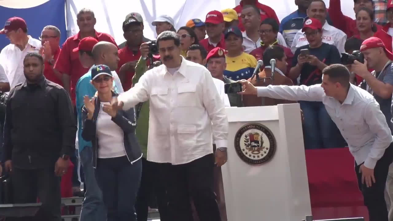 Venezuela: Thousands show support for Maduro at \'anti-imperialist\' march
